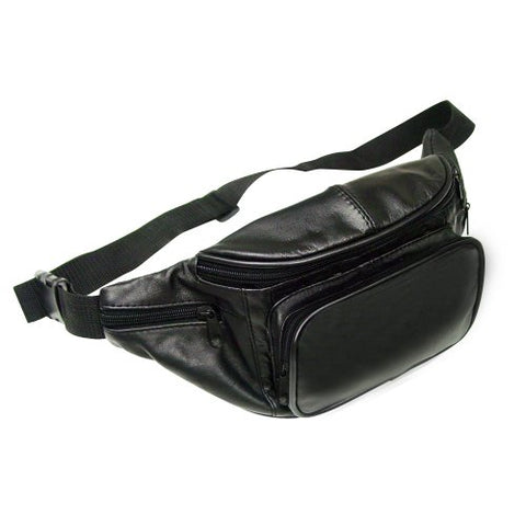 Leather Fanny Pack - Black