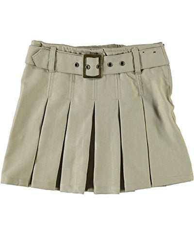 French Toast Big Girls' Scooter with Grommeted Belt - khaki, 14