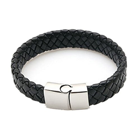 SWEETIE 8 Mens Unisex Woven Leather Wrap Bracelet
