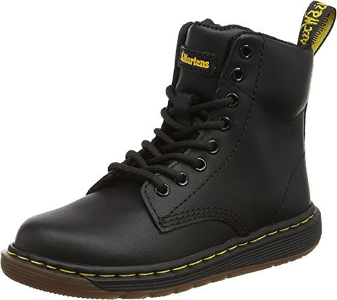 Dr. Martens Kid's Collection Unisex Malky Lace Boot (Little Kid/Big Kid) Black Backhand Boot