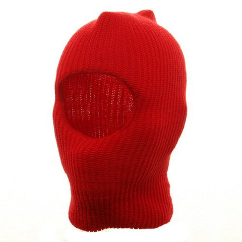 Child One Hole Ski Mask-Red