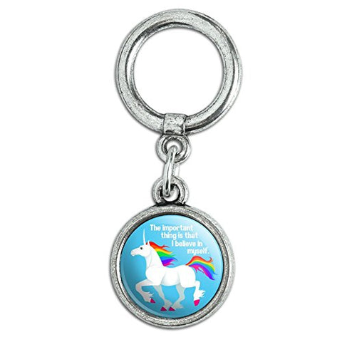 Unicorn The Important Thing is That I Believe in Myself Shoe Sneaker Shoelace Charm Decoration