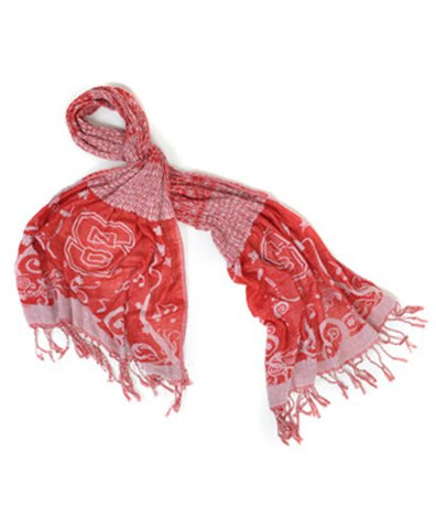 Official NCAA North Carolina State Wolfpack Thin Crinkle Shawl Scarf