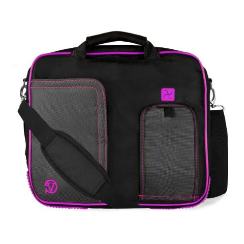 VanGoddy Pindar Messenger Carrying Bag for RCA 11 Maven Pro / RCA 10 Viking Pro / RCA Cambio W101 / RCA Pro 10 Edition II 10.1 to 11.6  Tablets (Purple)