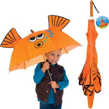 Goldfish Gold Fish Manual Stick Kids Umbrella Childrens Outdoor