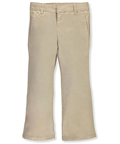 French Toast Big Girls' Plus Flat Front Flare Pants - khaki, 20.5