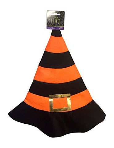 Wicked Witch Halloween Hat Headwear Felt Striped Candy Corn Style