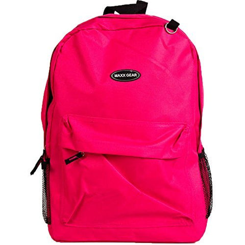 Maxx Gear Classic Design Backpack-Pink