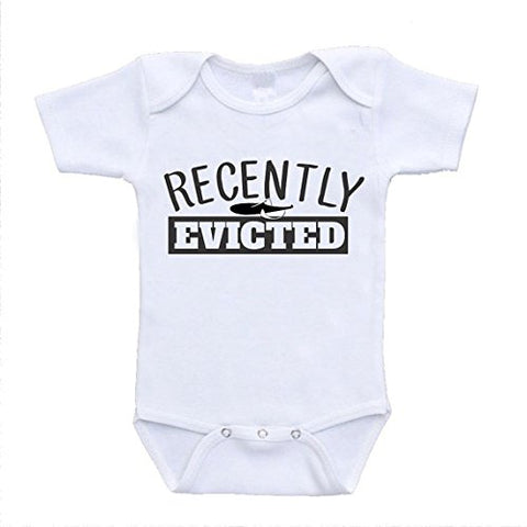 Recently Evicted Hilarious Funny Baby Bodysuits Onesies Clothing (newborn (0-3 Months)