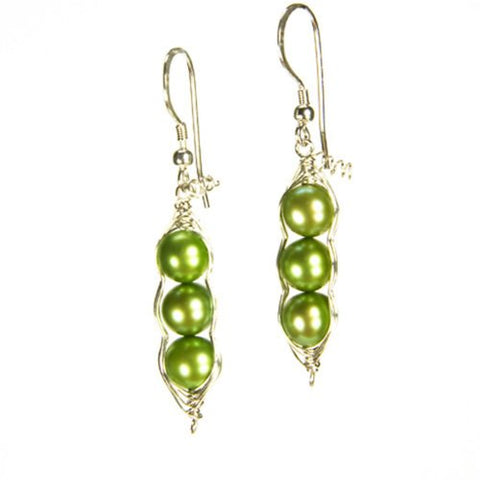 Wrapables Three Peas in a Pod Earrings