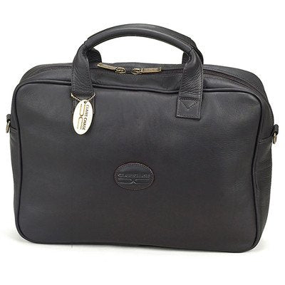 Small Business Leather Laptop Briefcase Color: Black