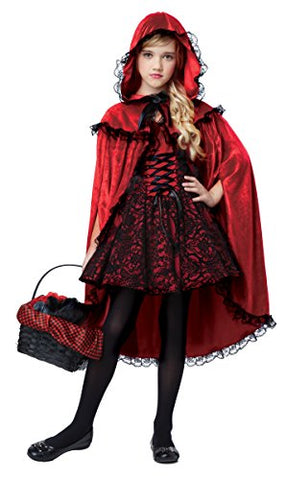 California Costumes Deluxe Riding Hood Costume, Red/Black, Large