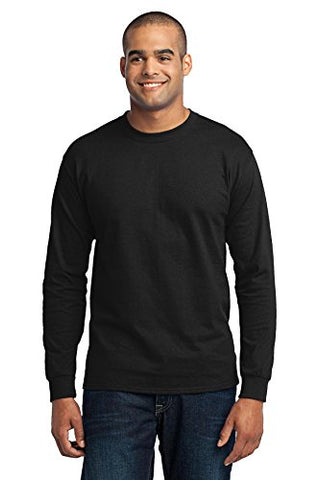 Port & Company Tall Long Sleeve 50/50 Cotton/Poly T-Shirt 2XLT Jet Black