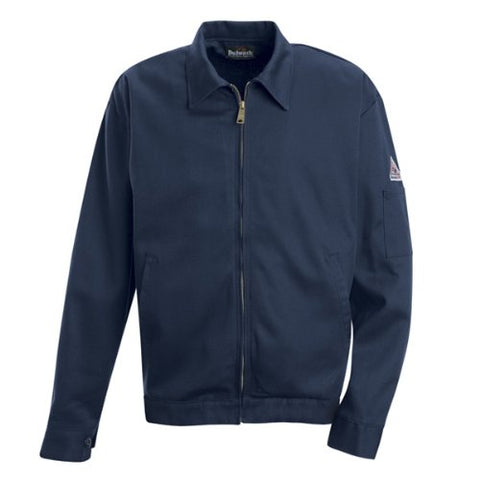 Bulwark Flame Resistant 9 oz Twill Cotton Excel FR Long Zip-In and Zip-Out Jacket, Navy, X-Large