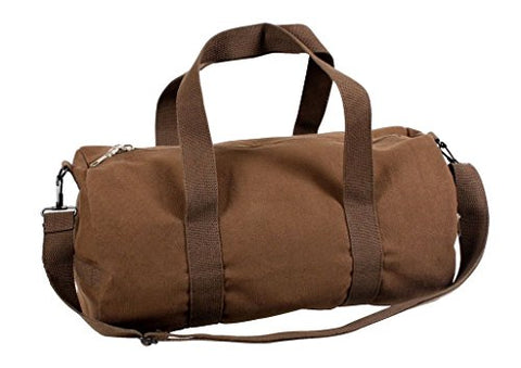 Sports Gym Shoulder Canvas Sport Shoulder Duffle Bag with Strap 19  x 9  (Color: Earth Brown)