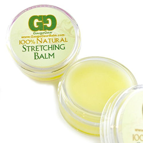 Gauge Gear Ear Stretching Balm Cream, Used for Plugs, Tapers, Expanders 10ml