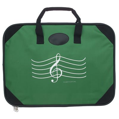 Music Briefcase with G-Clef (Green)
