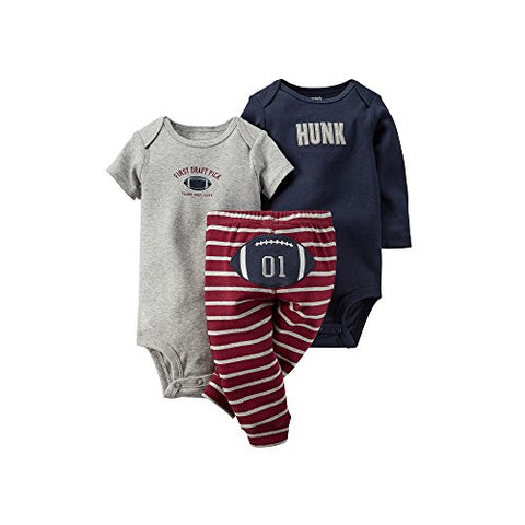 Carters Baby Boys' Football 3-Piece Pant Set (18 Months)