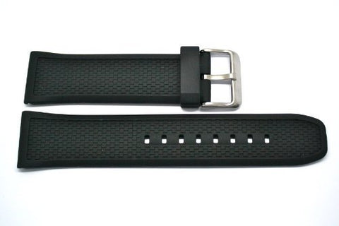 24MM RUBBER SMOOTH DIVER STRAP BAND FITS BREITLING SS BUCKLE