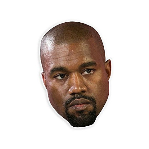 Serious Kanye West Mask - Perfect for Halloween, Masquerade, Parties, Events, Festivals, Concerts - Jumbo Size Waterproof Laminated