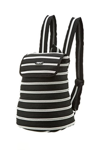 ZIPIT Zipper Backpack, Black & Silver Teeth