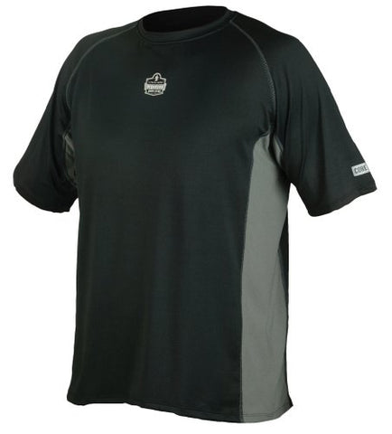 Ergodyne CORE Performance Work Wear 6418 Short Sleeve Shirt, Black, 2X-Large