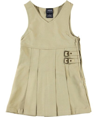 French Toast Double Buckle Tab Jumper - khaki, 8