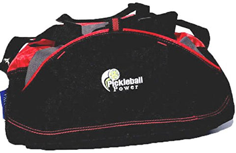 Pickleball Marketplace  Small  Duffle Bag - New/embroidered - Carry Paddles - BLK/RED