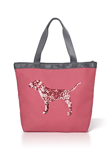 Victoria's Secret PINK Limited Edition Bling Tote Bag Soft Begonia