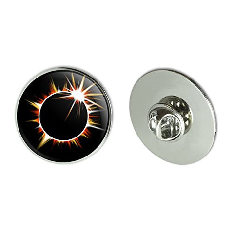 Total Solar Eclipse Painted Metal 1.1  Tie Tack Hat Lapel Pin Pinback