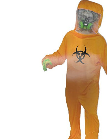 Forum Halloween Cosplay Biohazard Suit Adult Costume, Orange, One Size