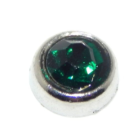 Jewelry Monster  Emerald Green  May Birthstone for Floating Charm Lockets EFC0015