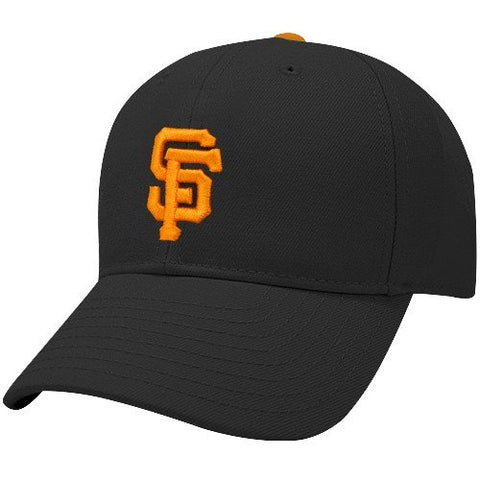 New Era San Francisco Giants Black Youth Flexfit Authentic Game Cap