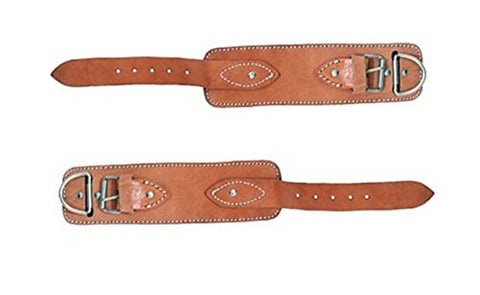 Ader Padded Real Leather Ankle Straps W/Free Snap Links (1 Pair)