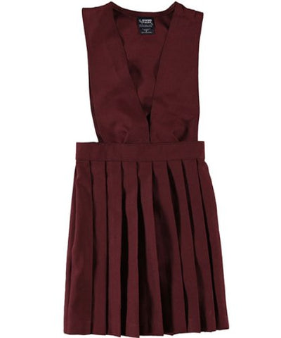 French Toast V Neck Pleated Jumper - burgundy, 14
