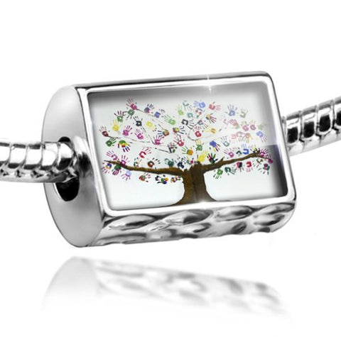 Charm Tree of Life Art, Children, Family, Love - Bead Fit All European Bracelet