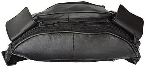 Marshal Wallet Jumbo Fanny Pack With Side Valcro Pockets - Black