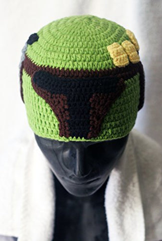 Milk protein cotton yarn handmade baby Boba Fett hat - fits 3-8 year old child