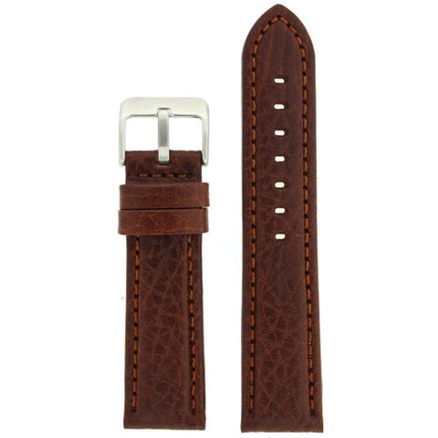 Watch Band Genuine Leather Padded Comfort Honey Brown 22 millimeters Tech Swiss
