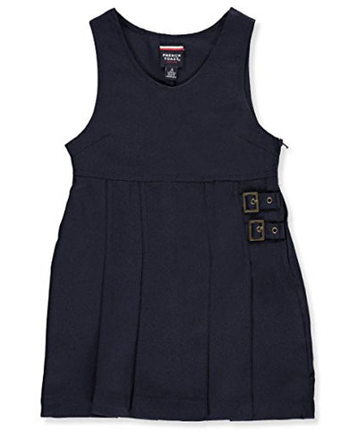 French Toast Little Girls' Double Buckle Tab Jumper - navy, 6