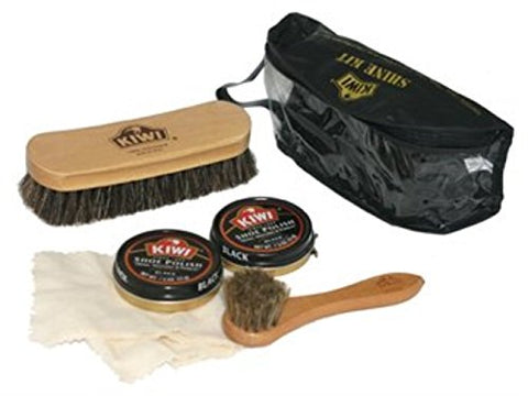 Kiwi Deluxe Shine Military Shoes Care Kit Black