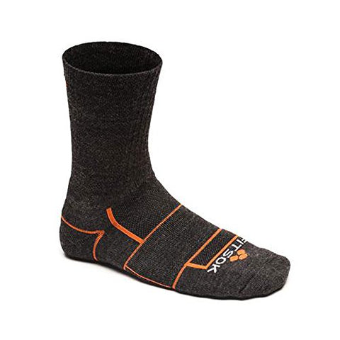 Fitsok ISW Trail Cuff Technical Socks , Charcoal and Orange, Medium