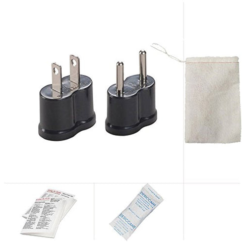 Going In Style Cuba Travel Adapter Nongrounded Plug Kit A and B