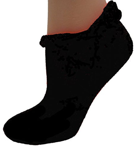 Cushees Rolldown Ped Socks (165S) (Black)