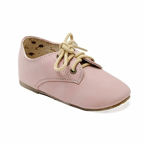 Fashion Girl Dress Sneaker Oxford Shoes Insole Rose Detail Toddler Size (6)