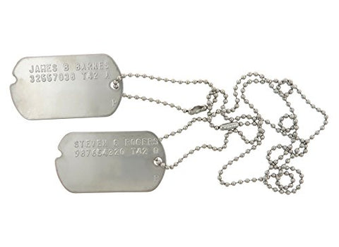 James Barnes  Bucky  & Steven Rogers Captain America Military Dog Tags