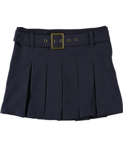 French Toast Big Girls' Scooter with Grommeted Belt - navy, 8