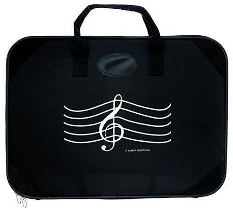 Music Briefcase Black with G-Clef