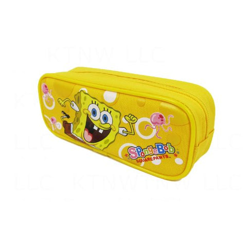 Officially Licensed SpongeBob Squarepants Single Zipper Pouch Pencil Case - SpongeBob and Jellyfish