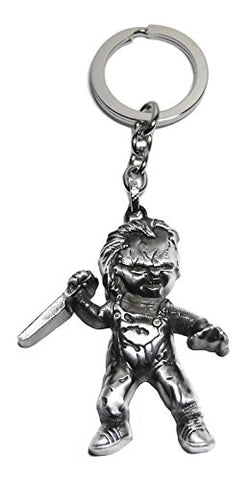 Child's Play Chucky 3D 2  Tall Pewter Finish KEYCHAIN